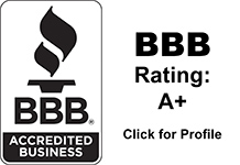 BBB Accredited Business. Rating A+